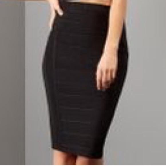 New Look Skirts Nwt Black Bandage Pencil Skirt Poshmark
